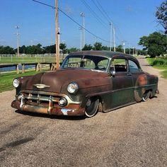 "1953 Chevrolet With 20"" Steelies (Detroit Steel Wheels)"