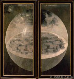 Hieronymus Bosch - The Creation of the World, closed doors of the triptych 'The Garden of Earthly Delights', c.1500