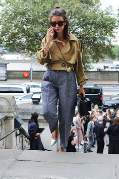 Natasha Goldenberg spotted on the street at London Fashion Week. Photographed by Phil Oh.