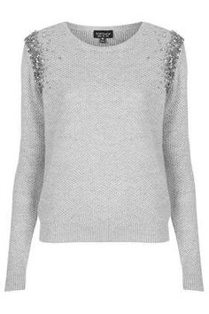 Ombre Embelished Jumper - New In This Week - New In - Topshop 46 Diy Fashion, Autumn Fashion, Fashion Outfits, Fashion Design, Winter Blouses, Professional Outfits, Blouse Dress, Sweater Outfits, Refashion