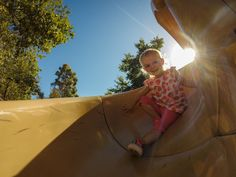 """Photo by James Bliss who wrote, """"On a family day at the park I snapped this picture of my daughter, Sienna, enjoying the moment. With the GoPro's inconspicuous size, and wide angle view, I love that I can capture such candid moments of my children without compromising quality."""""""