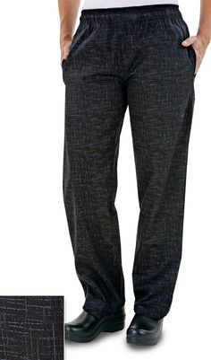Women's Chef Pant - Crosshatch Black $21.99 http://www.chefuniforms.com/chef-pants/womens-pants/5601chb-womens-chef-pants.asp ( a favourite repin of www.VIPFashionAustralia.com - international clothing store )