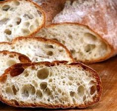 How to Make a Perfect No Knead Ciabatta Bread. Makes amazing sandwiches and great just for snacking with cheeses, olive oil etc. Also, the best sauce sopping bread..the holes catch every drop!