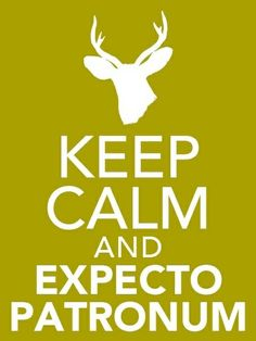 Keep calm and expecto patronum - Click image to find more Film, Music & Books Pinterest pins