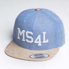 "MS4L Snapback Cap im ""Blue/Beige"" Style"
