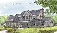 Elevation of Country   Farmhouse  House Plan 96839