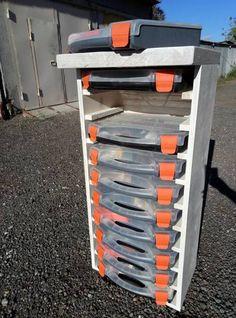 in use 5 Tool Box Storage, Workshop Storage, Garage Storage, Garage Organisation, Storage Organization, Woodworking Shop, Woodworking Projects, Ivar Regal, Diy Rack