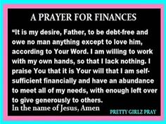 The Independent Woman Finance Prayer