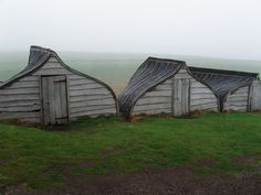 Boat shaped Wooden huts