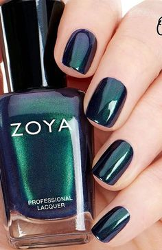 Zoya nail polishes use ingredients that are found natural nails, sulfur amino acids. That better link color to the nail which leads to the fact that the varnish lasts longer and does not peel off. The color on natural nails can last from days. Zoya Nail Polish, Nail Polish Colors, Manicure And Pedicure, Nail Polishes, Nail Nail, Chic Nails, Fun Nails, Pretty Nails, Popular Nail Colors