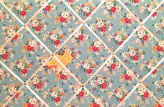 Large X Cath Kidston Big Blue Budgies Fabric Notice Memo Pin