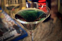 God Of Mischief:: 1/2 oz Blavod black vodka, 1/2 oz blue curacao, 1/2 oz apple sours, 1 oz lime juice, 1/2 oz mead, 1/2 oz cinnamon schnapps, Crushed ice (optional)::   Take a prepared martini glass and add the Blavod. If you'd like to use the ice, add it now. Add the rest of the ingredients and either stir or enjoy as-is!  Bring on the weekend...