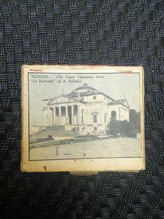 "VICENZA Villa Capra Valmarana detta La Rotonda"" Vintage safety matchbox"