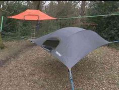 Camping In A State Of Suspension -- A Suspended Tent That Is --- from InventorSpot.com --- for the coolest new products and wackiest inventions. So cool!