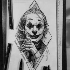 Joaquin Phoenix Joker Sketch By SuperTwisty Joker Sketch, Joker Drawings, Marvel Drawings, Dark Art Drawings, Pencil Art Drawings, Art Drawings Sketches, Tattoo Drawings, Realistic Drawings, L'art Du Portrait