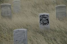 Little Bighorn National Battlefield-Crow Agency-Custer's on site grave