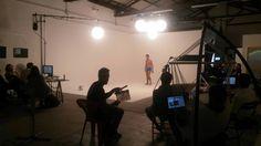 """Backstage """"Tweet To Streep"""" Ford realizzato presso il limbo cyclorama dello studio fotografico Lumina Sense art lab a Roma"""