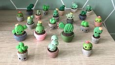 I recently started a new hobby, Polymer Clay. I made a whole lot of tiny plants and cactuses to practice 🌵 : crafts