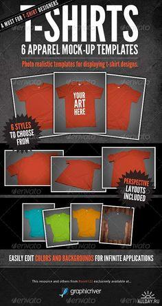 PSD - T-Shirt Mock-Ups - Apparel Design 140080