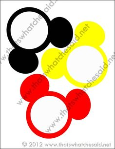 FREE Mickey Mouse Banner printable by That's What Che Said
