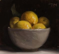 daily painting titled Bowl of lemons - click for enlargement