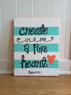 Psalm 5110 Handpainted Acrylic Canvas By PaintTilYaCaint On Etsy