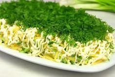 Hering sub plapumă verde. Salata preferată într-un mod inedit! Radish Recipes, Salad Recipes, Diet Recipes, Cooking Recipes, Ham Salad, Salad Bar, Cooking A Roast, Shellfish Recipes, Appetizer Salads