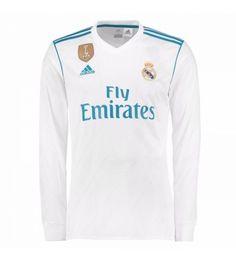 bd68b3c09a2 Billiga Fotbollströjor Real Madrid Hemmatröja 17-18 Långärmad