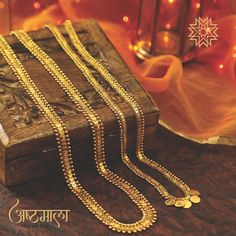 What you should wear with that peshwai saree. Gold Chain Design, Gold Bangles Design, Gold Earrings Designs, Gold Jewellery Design, Necklace Designs, Manubhai Jewellers, Gold Jewelry Simple, Bridal Jewelry, Fashion Jewelry