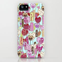 je t'aime iPhone Case by Sharon Turner - $35.00