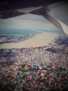 Sungai Mahakam | Samarinda | East Borneo | Indonesia East Indies, Borneo, Airplane View, Culture, Places, Holiday, Photography, Vacations, Photograph