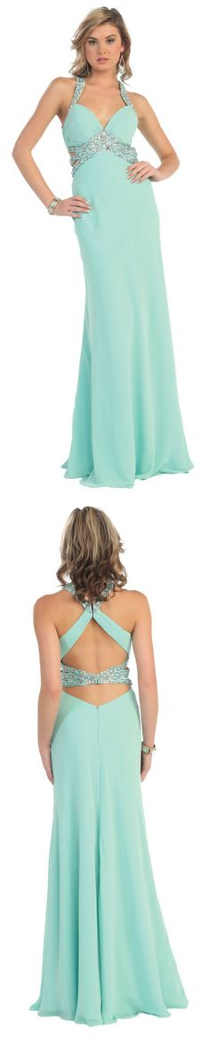 Full-length chiffon dress with sweetheart neckline and jewelled straps. Deb Dresses, Formal Dresses For Teens, Grad Dresses, Chiffon, Neckline, Prom, Accessories, Fashion, Silk Fabric