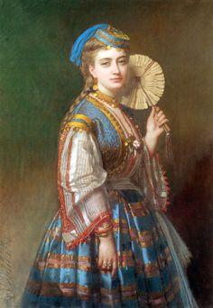 "Thomas de Barbarin, ""Portrait of a Lady in Ottoman Style"""