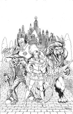 Grimm Fairy Tales Presents Oz 5 Cover B In Outsiders Fans Coloring Pages