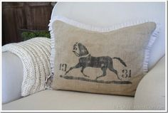 Use burlap and paint a B or a Fleur de Lis on the burlap with the white pleated detail