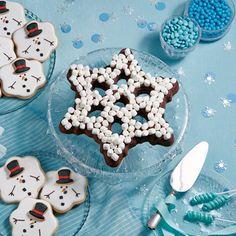 S'mores Snowflake Brownies