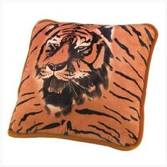 2 of Golden Tiger Portrait Accent Pillow Free Shipping!