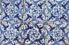 Blue and white concrete tile from Marrakech Design, Sweden, www.marrakechdesign.se