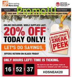 free Home Depot coupons