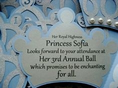 cinderella inspired princess crown invitation by i would so make these if i ever have a daughter