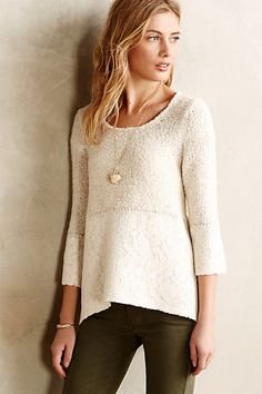 Felted Lace Pullover - anthropologie.com