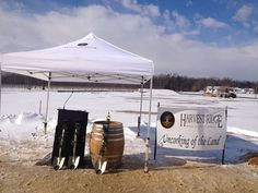 The day the cold, hard ground was broken for Harvest Ridge Winery! #GoodLibationsTour