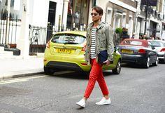 red pants at Pitti Uomo spring 2013