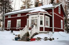 Lovely traditional Finnish house in Kokkola, Central Ostrobothnia County, Finland. My home corners!