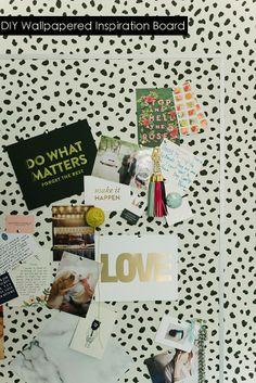 DIY wallpaper inspiration board.