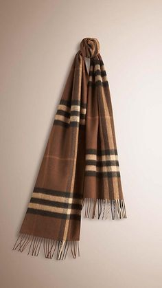 Oak brown The Classic Cashmere Scarf in Check - 1 Burberry Scarf, Athletic  Shoes, 16d24407d5c