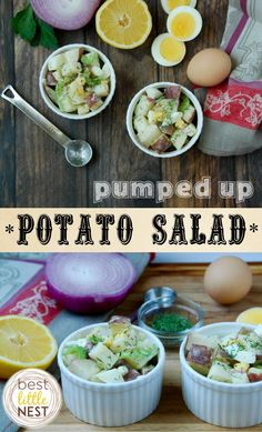 Pumped Up Potato Salad recipe - extra protein {from hard-boiled eggs & Greek yogurt} makes this the perfect picnic side dish or main event!