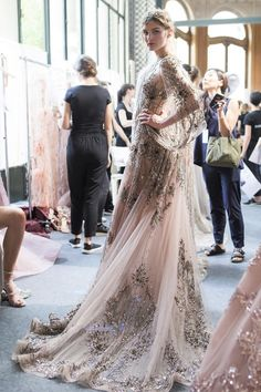 backstage at zuhair murad | couture fall '17