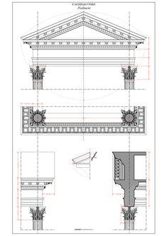 Corinthian Order - Pediment