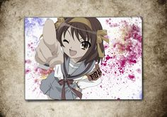 Melancholy of Haruhi Suzumiya Anime Manga Watercolor Print Art Poster Giclee 13'' x 19'' Super A3 No503 by masterofposter on Etsy